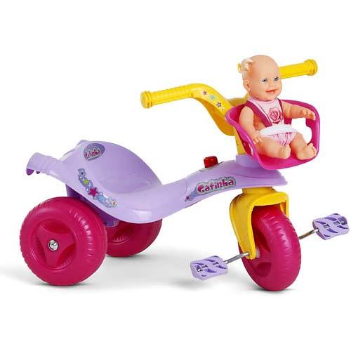 Triciclo Gatinha Lilás/amarelo Bandeirante 808