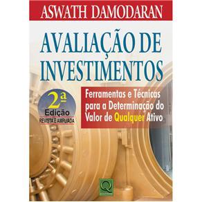 Avaliacao de Investimentos Ferramentas e Tecnicas P/ a Determinacao de Qualquer Ativo