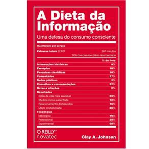 Livro- a Dieta da Informação: Aprenda a Diminuir o Consumo de Informações de Baixa Qualidade e Tenha uma Vida Mais Feliz e Produtiva -