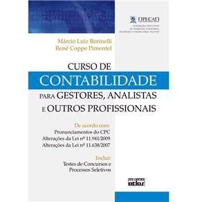 Curso de Contabilidade para Gestores, Analistas e Outros Profissionais