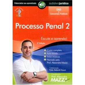 Processo Penal 2 - Autor Prof. Alexandre Mazza e Narrador Prof. Alexandre Mazza - Cd de Audiolivro