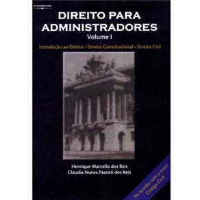 Direito para Administradores - Vol. I