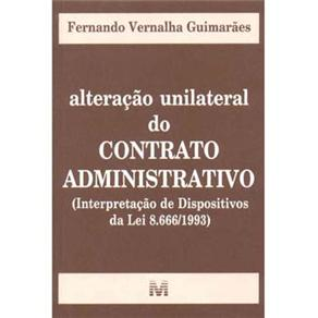 Alteracao Unilateral do Contrato Administrativo