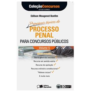 Livro-processo Penal para Concursos Públicos - Volume 5-autores Alexandre Cebrian Araújo Reis Bueno e Victor Eduardo Rios Gonçalves - C