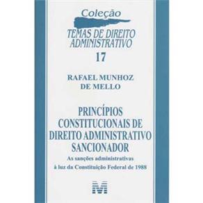 Principios Constitucionais de Direito Administrativo Sancionador N.17