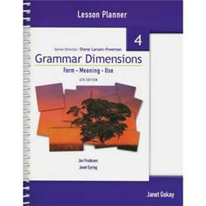 Grammar Dimensions Lesson Planner - Level 4