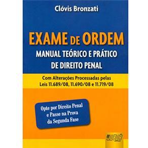 Exame de Ordem: Manual Teórico e Prático de Direito Penal