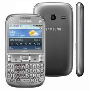 Celular Smartphone Samsung Ch@t S3333 30mb Prata - Tri Chip