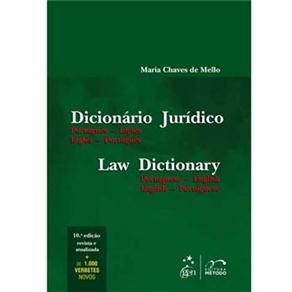 Dicionário Jurídico: Português-inglês - Inglês-português - Maria Chaves de Mello