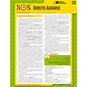 Sinteses Organizadas Saraiva Direito Agrario - Volume 33