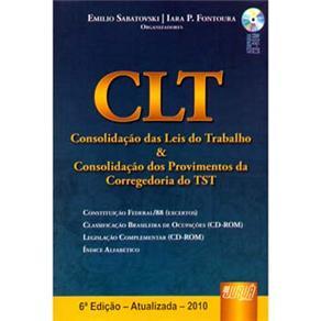 Clt: Consolidação das Leis do Trabalho e Consolidação dos Provimentos da Corregedoria do Tst