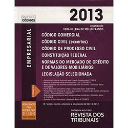 Rt Mini Código 2013: Código Comercial, Código de Processo Civil, Constituição Federal