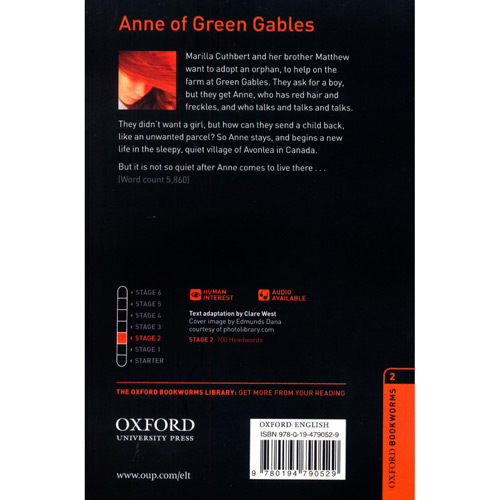 Anne Of Green Gables - Cd Pack - Level 2