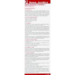 Suma Jurídica: Direito Registral e Notorial Vol. 1
