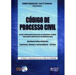 Codigo de Processo Civil - Acompanha Cd-rom