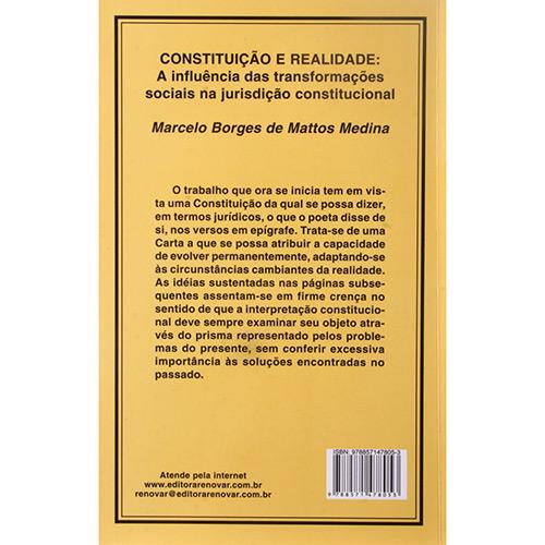 Constituição e Realidade: a Influencia das Transformaçoes Sociais na Jurisdição Constitucional