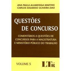Questoes de Concurso - Vol. 5 - Comentarios a Questoes de Concursos para A