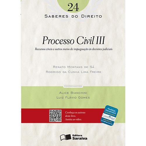 Saberes do Direito - Processo Civil 3 - Vol.24