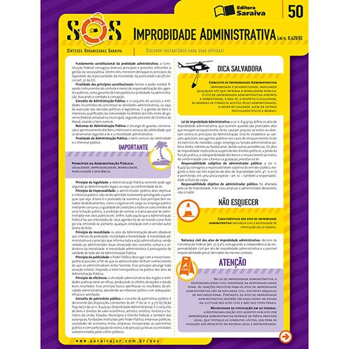 Sínteses Organizadas Saraiva: Improbidade Administrativa - Vol. 50 - Col. Sos
