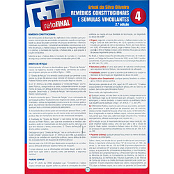 Remedios Constitucionais e Sumulas Vinculantes