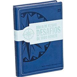 Bíblia de Estudo Desafios de Todo Homem: Azul