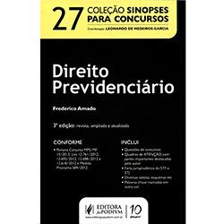 Direito Previdenciário - Vol. 27 - Coleção Sinopses para Concursos