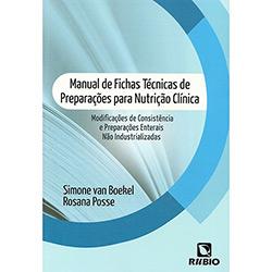 Manual de Fichas Técnicas de Preparações para Nutrição Clínica