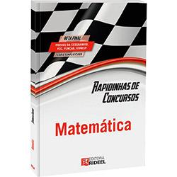 Rapidinhas de Concursos: Matemática (2013 - Edição 1)