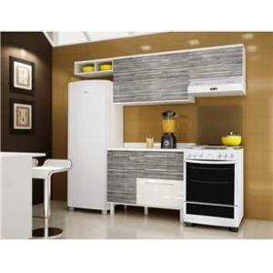Cozinha Completa Palmeira Móveis Tâmara Viii 4 Portas 3 Gavetas