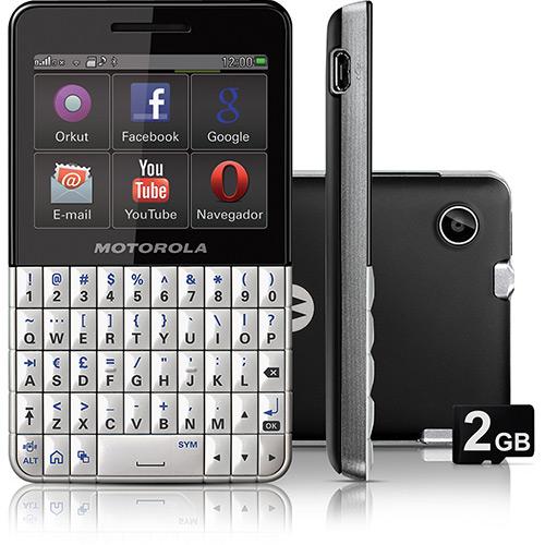 Celular Motorola Motokey Xt Ex119 Preto - 1 Chip
