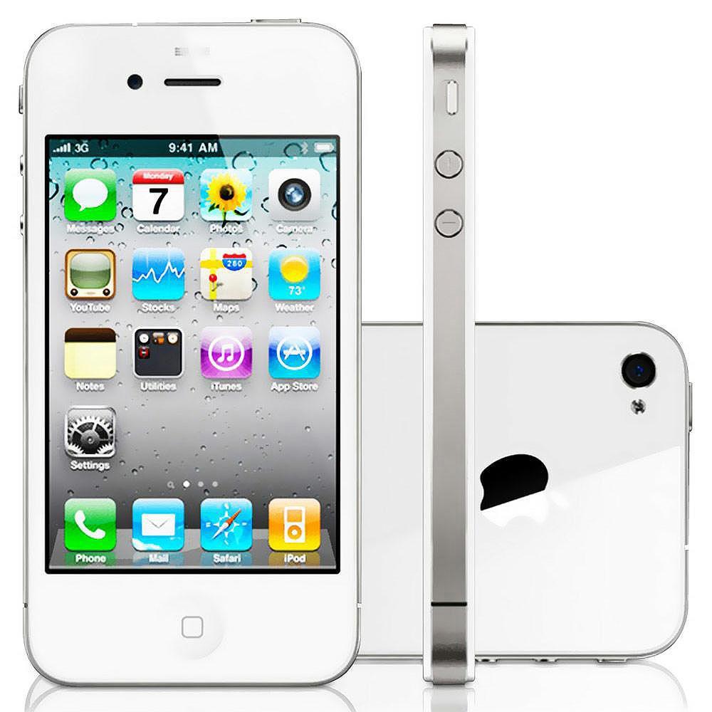 Celular Smartphone Apple Iphone 4 32gb Branco - 1 Chip