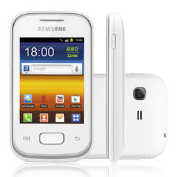 Celular Smartphone Samsung Galaxy Pocket S5300 4gb Branco - 1 Chip