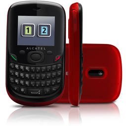 Celular Alcatel One Touch Ot-355 7mb Vermelho - Dual Chip