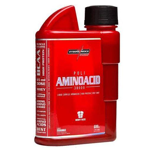 Poli Aminoacid 38000 600ml Morango Integralmedica