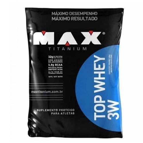 Top Whey 3w 1,8kg Baunilha - Refil Max Titanium