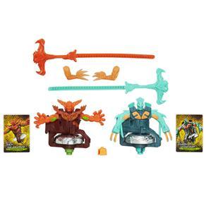 Pião Beyblade Beywarrior Shogun Ifrit Salamander e Guardian Levithan Hasbro