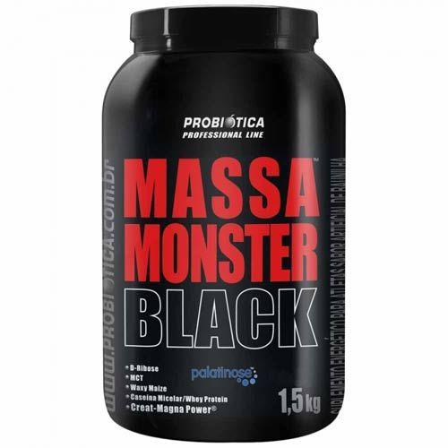 Massa Monster Black 1,5kg Baunilha Probiotica