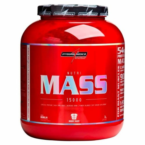 Nutri Mass 15000 3kg Morango Integralmedica