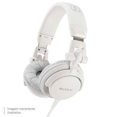 Fone de Ouvido Headphone Supra Auricular Branco Sony Mdrv55wcae