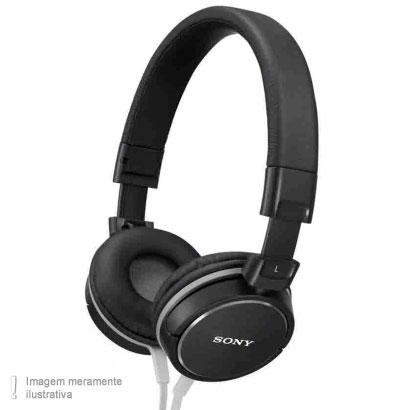 Fone de Ouvido Headphone Supra-auricular Cinza e Preto Sony Mdrzx600hc