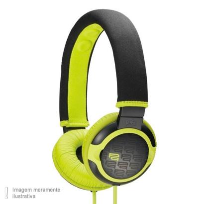 Fone de Ouvido Headphone Verde e Preto Sony Mdrpq2g