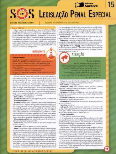 Sínteses Organizadas Saraiva: Legislação Penal Especial - Vol.15 - Col. Sos
