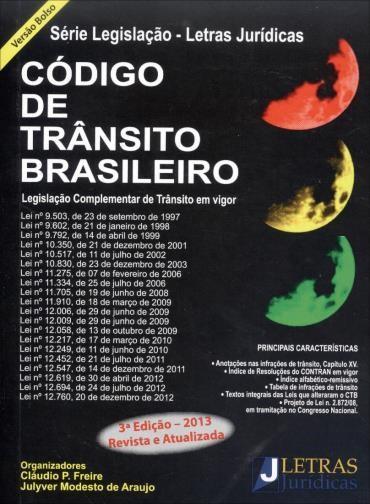 Código de Trânsito Brasileiro: Legislação Complementar de Trânsito em Vigor - Versão de Bolso