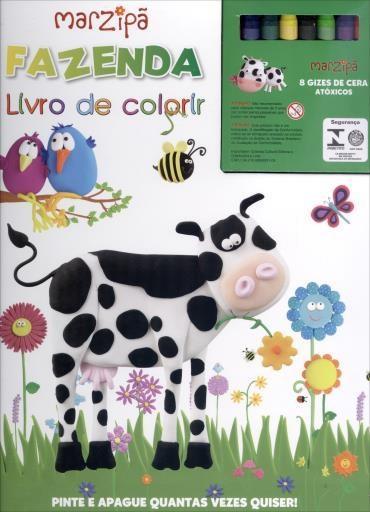 Fazenda: Marzipã: Livro de Colorir Com Giz de Cera
