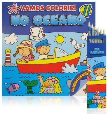Vamos Colorir! no Oceano (kit Livro + Lápis de Cor)