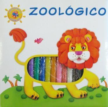 Zoológico: Livro Com Massinhas para Modelar