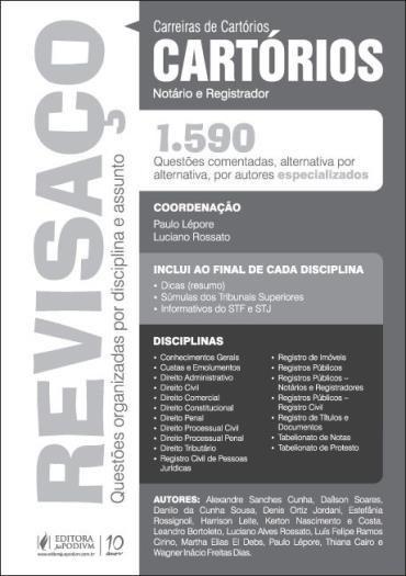 Revisaço: Cartórios - 1.590 Questões Comentadas Altenativa por Alternativa