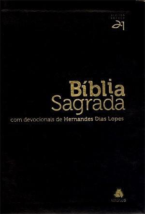 Bíblia Sagrada Com Devocionais de Hernandes Dias Lopes - Luxo