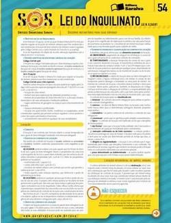 Sos Sínteses Organizadas Saraiva - Lei do Inquilinato - Volume 54