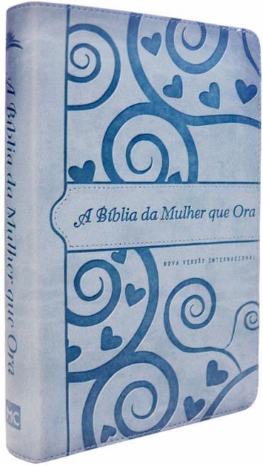 Bíblia da Mulher Que Ora, a - Nvi - Azul